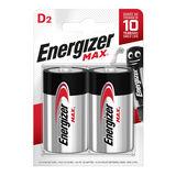 Energizer Max Piles Alcalines D 2 pièces