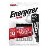 Energizer Max Piles Alcalines AAA 4 pièces