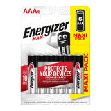 Energizer Max Piles Alcalines AAA 6 pièces