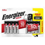 Energizer Max Piles Alcalines AA 8 pièces