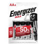Energizer Max Piles Alcalines AA 4 pièces