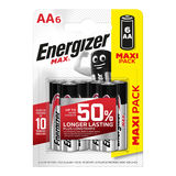 Energizer Max Piles Alcalines AA 6 pièces