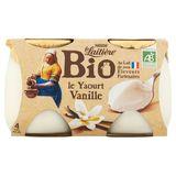 La Laitière Bio le Yaourt Vanille 4 x 125 g