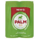 Palm 0.0 Belgisch Amber Bier Blikken 4 x 250 ml