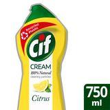 Cif Crème à Récurer Produit d'Entretien Citron 750 ml