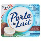Yoplait Perle de Lait Coco 4 x 125 g