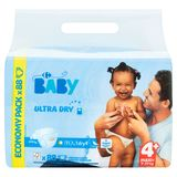 Carrefour Baby Ultra Dry 4+ Maxi+ 9-20 kg Economy Pack 88 Couches