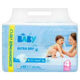 Carrefour Baby Ultra Dry 4 Maxi 7-18 kg Economy Pack 92 Couches
