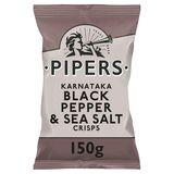 Pipers Chips Black Pepper & Sea Salt 150 gr