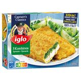 Iglo 3 Filets de Poisson Pané aux Epinards 300 g