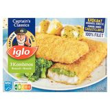 Iglo 3 Gepaneerde Visfilets met Broccoli 300 g
