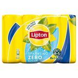 Lipton Iced Tea Suikervrije Bruisende Ijsthee Original Zero 8 x 33 cl