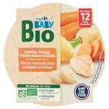 Carrefour Baby Bio Carotte, Panais, Patate Douce et Dinde dés 12 Mois 230 g