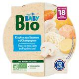 Carrefour Baby Bio Risotto aux Saumon et Champignon dès 18 Mois 260 g