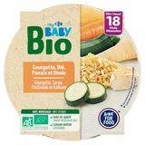 Carrefour Baby Bio Courgette, Blé, Panais et Dinde dés 18 Mois 260 g