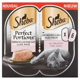 Sheba Perfect Portions au Saumon Duo Pack 6 x 37.5 g