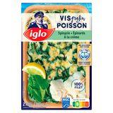 Iglo Gratin de Poisson Epinards à la Crème 380 g