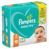 Pampers Baby-Dry Couches Taille 3 (6-10kg) - 31Couches