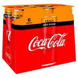 Coca-Cola Zero Sugar Peach 6 x 250 ml