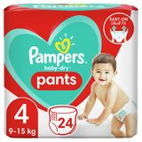 Pampers Baby-Dry Couches-Culottes Taille4, 24Culottes, 9kg-15kg