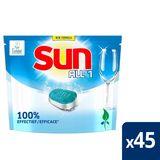 Sun Tout en 1 Tablette Lave-vaiselle Regular avec Ecolabel 45 tabs