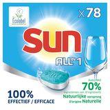 Sun Tout en 1 Tablettes Lave-Vaisselle Regular 78 Tabs