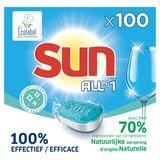 Sun Tout en 1 Tablette lave-vaisselle Hygiène avec Ecolabel 100 tabs