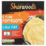 Sharwood's 8 Plain Poppadoms 94 g
