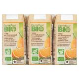 Carrefour Bio 100% Pur Fruit Pressé Jus d'Orange Bio 6 x 20 cl