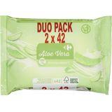 Carrefour Aloe Vera Vochtig Toiletpapier Duo Pack 2 x 42 Stuks