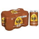 Leffe Belgisch Abdijbier 0.0% Alc. Bruin Blik 33 cl