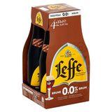 Leffe Belgisch Abdijbier Bruin 0.0% Alc. Flessen 4 x 33 cl