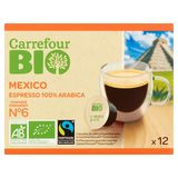 Carrefour Bio Mexico Espresso 100% Arabica 12 x 5.8 g