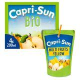 Multifruits Capri-Sun Bio Yellow Pouch 4 x 0.20 L