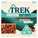 Trek Protein Nut Bars Dark Chocolate and Sea Salt 3 x 40 g
