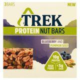 Trek Protein Nut Bars Blueberry and Pumpkin Seed 3 x 40 g