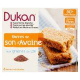 Dukan Barres de Son d'Avoine aux Graines de Lin 6 x 25 g