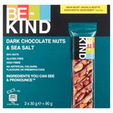 BE-KIND Dark Chocolate Nuts & Sea Salt 3 x 30 g