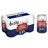 Stella Artois 0.0% Alc 6 Blikken 33 cl