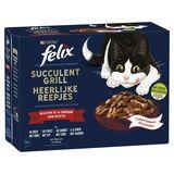 FELIX Nourriture Chat Succulent Grill Sélection Campagne 12 x 80 g