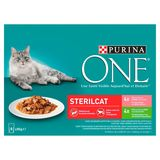 PURINA ONE Wet Kattenvoer Sterilcat Zalm of Kalkoen 8 x 85 g