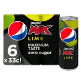 Pepsi MAX Cola Lime 6x33 cl