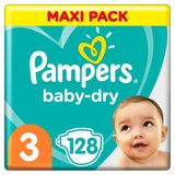 Pampers Baby-Dry Taille 3, 128Couches, 6-10kg
