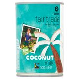 Oxfam Fair Trade Bio Organic Coconut Milk 400 ml