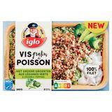 Iglo Gratin de Poisson aux Légumes Verts et Crumble 380 g