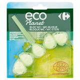 Carrefour Eco Planet Bloc WC Menthe Eucalyptus 55 g