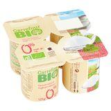 Carrefour Bio Yaourt Nature 0% Mat. Gr. 4 x 125 g