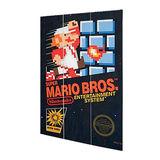 Nintendo - Super Mario Bros - Cover wood frame