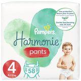 Pampers Harmonie Pants Maat 4, 58 Luierbroekjes, 9kg-15kg