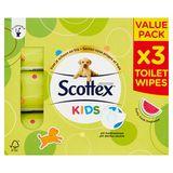 Scottex Vochtig Toiletpapier Kids Value Pack x 3 Stuks